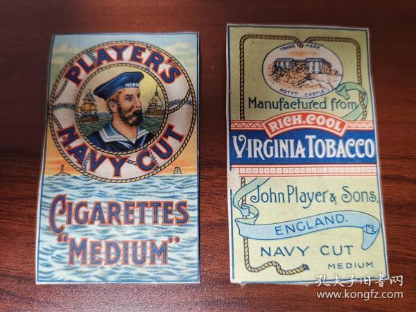 民国时期英国烟标一份Navy Out Players