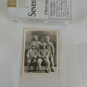 老照片,五十年代。军人合影