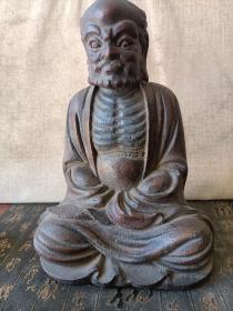 清代的老佛像达摩祖师 沉香木的
