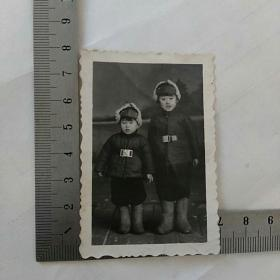 老照片,蒙古装束,合影