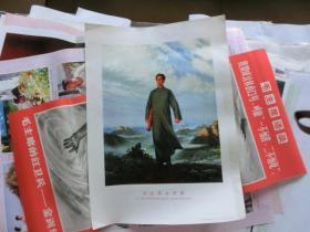 中国经典年画宣传画大展示---【毛主席去安源】