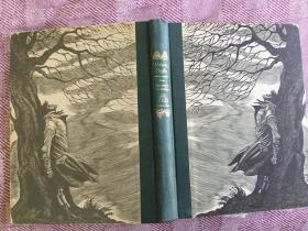 Wuthering Heights呼啸山庄,1943 布面书脊精装兰登版大开本,书顶刷灰,含多幅满页优雅黑白版画,名人名著名画名社,值得收藏
