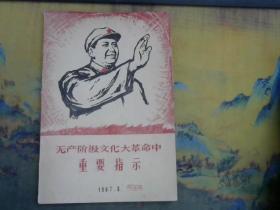无产阶级文化大革命中重要指示