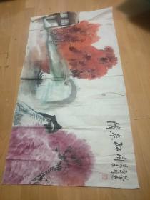 书画家:刘益慧作画:情系江南