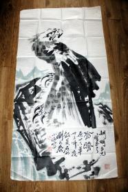 刘永泰 鹰石图