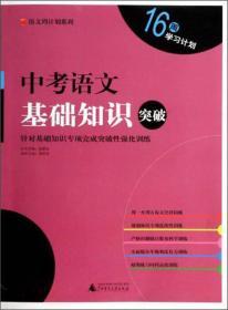 语文周计划系列:中考语文基础知识突破