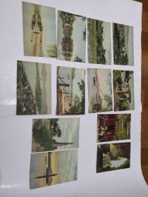 明信片:西湖风景(12张)50年代。 浙江日报供稿 上海人民美术出版社   品如图 无外壳  1-5号柜
