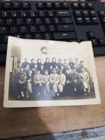 老照片:1968年  毛主席头像  合影  字迹模糊  1968年于三中   品自定  编号 分1号册
