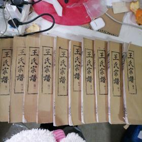王氏宗谱 三槐堂(1-8卷)10本