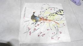 天津著名画家,刘淑珎 3幅中国画合售!(63*63厘米)L2