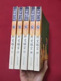 中国禁毁小说110部:野叟曝言  (1—5全)