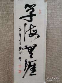 武中奇书法作品(学海无涯)三平尺左右