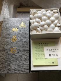 日向特制 本蛤碁石 34号 月印 围棋 蛤碁石 180颗 9.55-9.75 那智黑石  181颗   特殊商品售出不退 不包邮