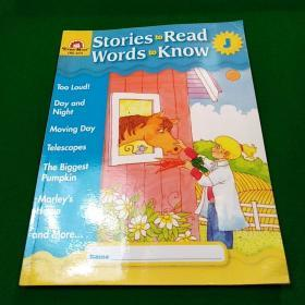 Stories to Read Words to Know: Level J, Student Book