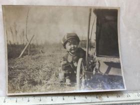 民国时期童车儿童老照片
