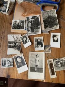 5398:民国至50年代老照13张,有穿旗袍美女,穿长衫帅哥