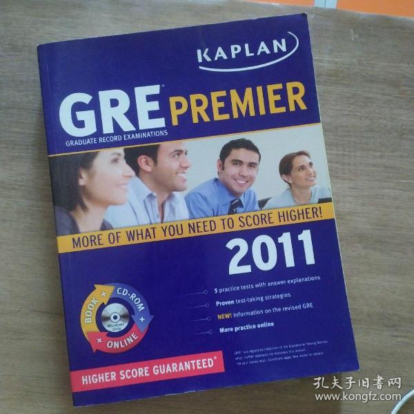 Kaplan GRE 2011 Premier with Cd-Rom