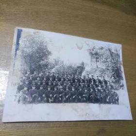 老照片 中国人民解放军五九三五一部队合影留念 1976.3.16