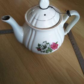七十年代老瓷壶茶壶一把,包老保真