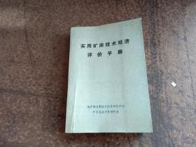实用矿床技术经济评价手册