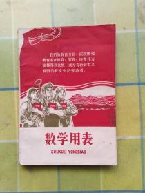 数学用表(上海市中学教材编写组出版)