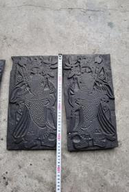 雕工特别漂亮的门神印板一套三对大中小各一对,三包安全到家