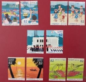 日邮·日本邮票信销·樱花目录编号C2364  2018年 小笠原群岛回归50周年纪念10枚全
