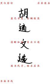 【复印件】胡适文选-胡适-民国亚东图书馆刊本