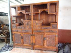 清代老家具花梨书柜多宝阁木器