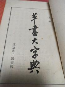 草书大字典上中册合售