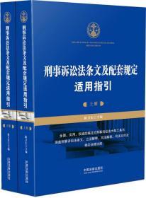 刑事诉讼法条文及配套规定适用指引