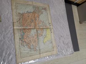加拿大地图(1971年10月一版一印,长50厘米,宽35厘米。)