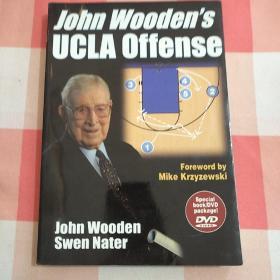 John Wooden's UCLA Offensive(内附光碟)【内页干净,书脊一点瑕疵,见图】