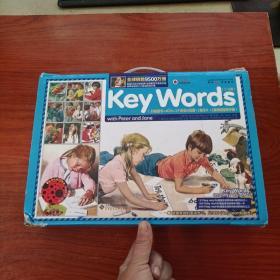 快乐瓢虫双语童书·Key Words【(盒装,含18册图书+4张CD+挂图+闪卡+手册)】 配件齐全