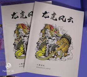 武侠评书小说《龙虎风云》上下册
