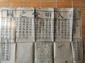 清代    中医类  康熙四年(铜人明堂之图)一套四张   长1.1米  宽52公分