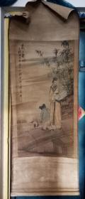 任颐绘: 羲之爱鹅  [50×100厘米]
