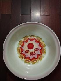 文革忠字搪瓷盆(直径40公分)(天津搪瓷厂出品,40公分深型)