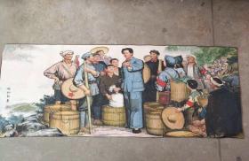 毛主席工农红军文革刺绣织锦画丝织画红色收藏