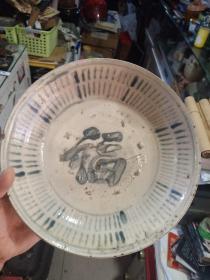 老盘子,明清大碗,个头挺大的,有瑕疵口沿有小磕,介意者勿拍,包真包老,品相一般,售出不退。