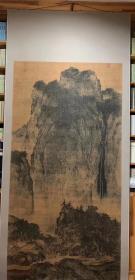 故宫三宝 宋画经典[玫瑰]宋_范宽_溪山行旅图。纸本大小103.3*206.21厘米。微喷印制。装裱成品约有280*110公分左右。