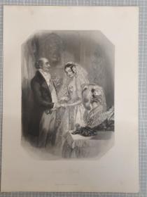 1850年 钢版画 手工雕刻 凹印 版画42-20210220
