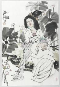 得自作者本人,终身保真      罗宁,陕西人,画家,美术评论家。陕西省美术博物馆馆长、学术委员会主任、中国美术家协会会员。3