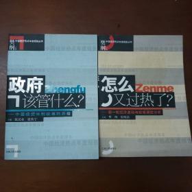 中国经济热点年度报告丛书:政府该管什么——中国投资体制改革的历程 怎么又过热了?——新一轮经济波动于宏观调控分析