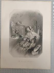 1850年 钢版画 手工雕刻 凹印 版画47-20210220