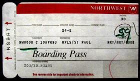 巴西圣保罗登机牌带副券,早期外国登机牌、飞机票甩卖,实拍,包真