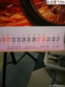 1997年挂历 骄机车美女【12张全】 尺寸71乘48厘米
