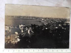 民国原版老照片:青岛海滨全景