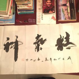 【保真迹】中国书法协会会员著名书法家高山书法作品。(精气神)