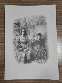 世界名著插图手稿~一个陌生女人的来信3(硬卡纸印刷)